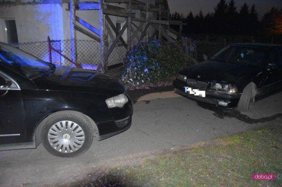 Zderzenie bmw i volkswagena w Nowiźnie