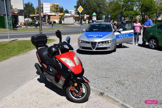 Zdarzenie drogowe na rondzie w Dzierżoniowie
