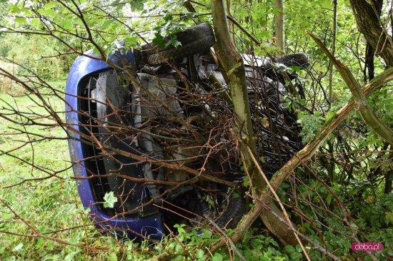Honda wypadła z drogi w Rościszowie