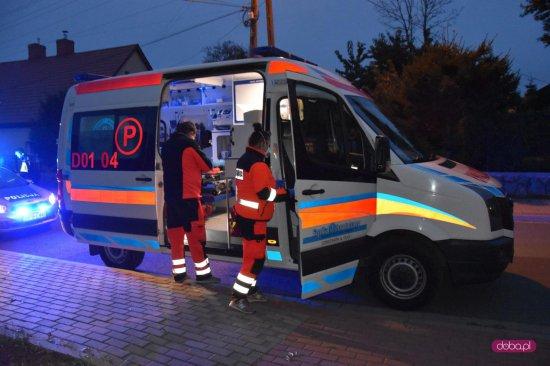 Pijany motorowerzysta upadł na ul. Kopernika w Pieszycach