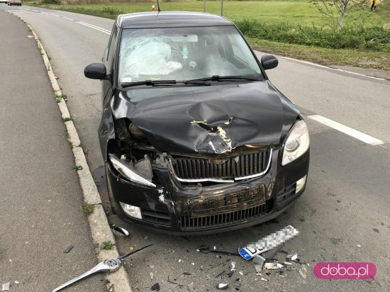 Wypadek przy wjeździe do Pieszyc