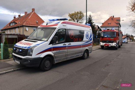 Akcja ratunkowa na ul. Frankowskiego w Bielawie