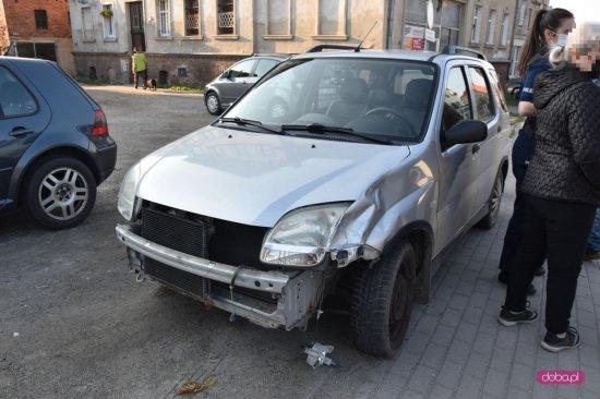 Zderzenie suzuki z motocyklistą w Bielawie