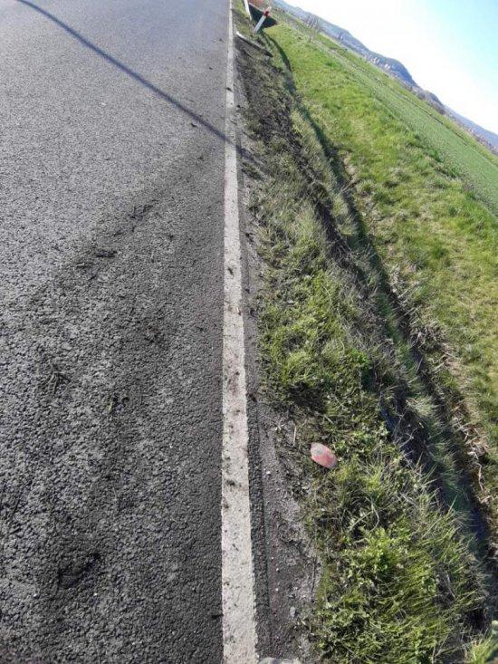 Dachowanie na drodze Bielawa - Pieszyce