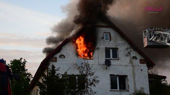 Pożar domu w Sieniawce