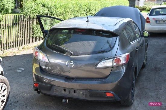 Zderzenie trzech samochodów w Piławie Dolnej