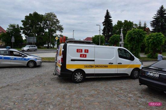 Zderzenie audi ze skodą w Łagiewnikach