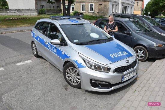 Kolizja na ul. Wolności w Bielawie