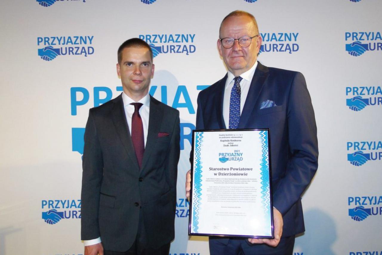 Starostwo Powiatowe - Przyjazny Urząd 2021