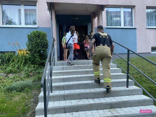 Straż pożarna na osiedlu XXV-lecia w Bielawie