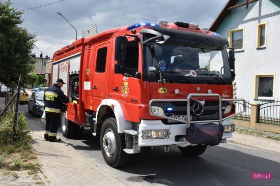 Pożar w budynku mieszkalnym w Piławie Górnej