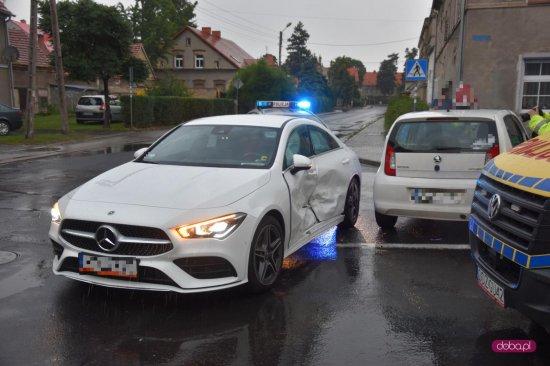Zderzenie pojazdów w Pieszycach