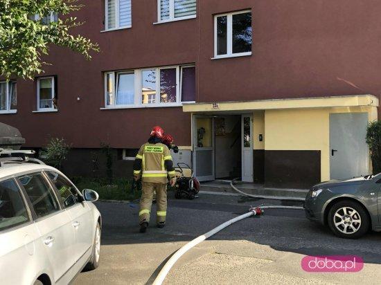 Pożar mieszkania na os. Błękitnym