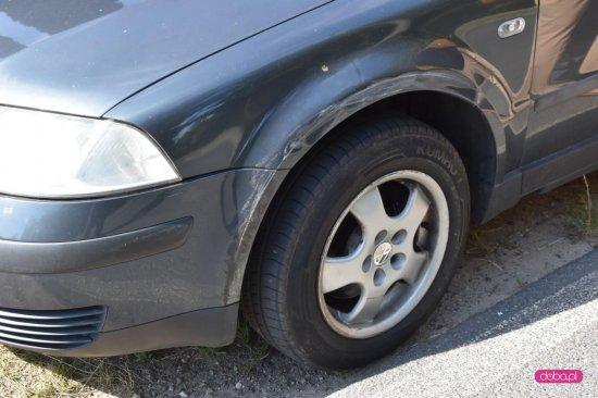 Zderzenie volkswagena z fordem w Bielawie