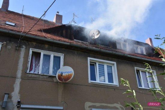 Pożar poddasza w Bielawie