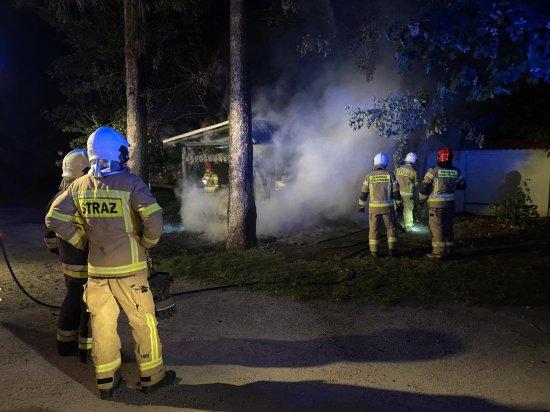 Pożar śmietnika w Bielawie
