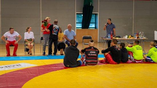 Spotkanie medalistów Igrzysk Olimpijskich w zapasach w Dzierżoniowie