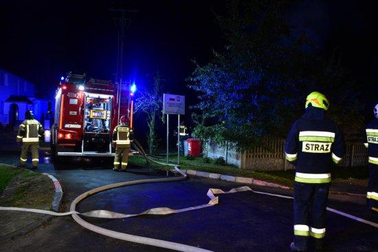 Pożar pomieszczenia gospodarczego w Słupicach