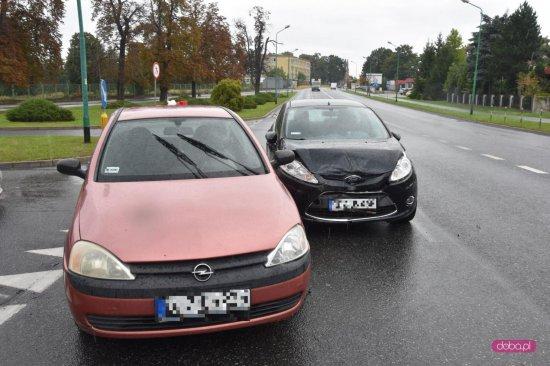 Zderzenie pojazdów w Dzierżoniowie