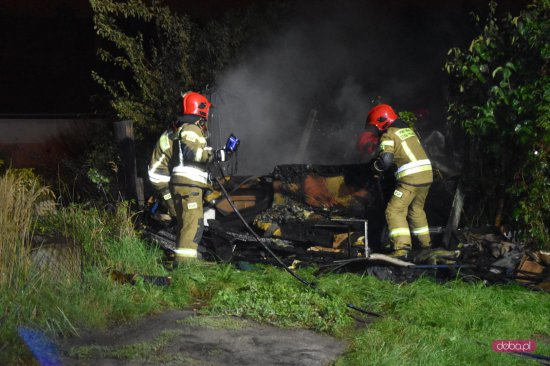 Pożar na Brzegowej w Dzierżoniowie