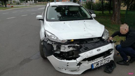 Zderzenie dwóch pojazdów w Łagiewnikach