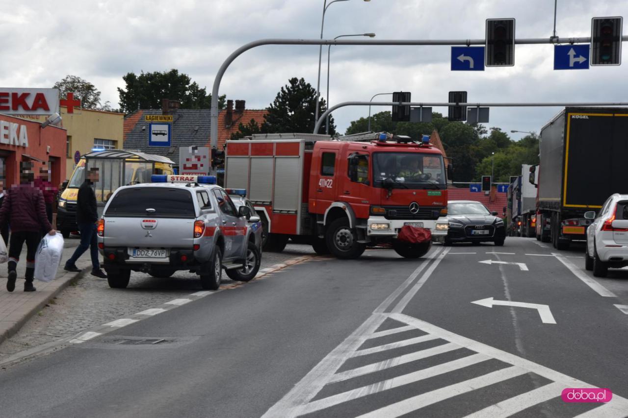 Zderzenie trzech aut w Łagiewnikach