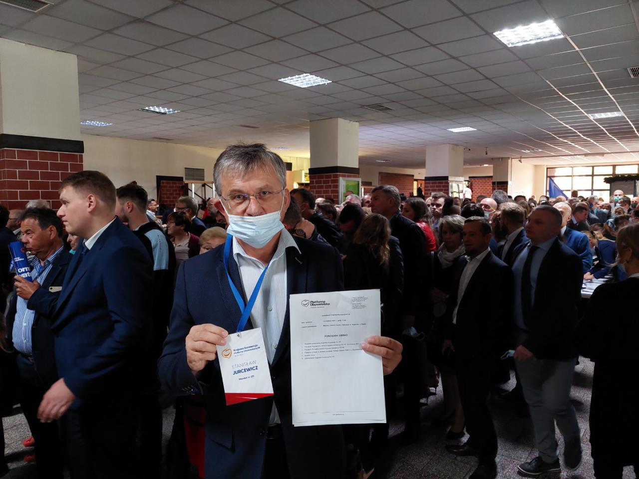 Stanisław Jurcewicz na konwencji Platformy Obywatelskiej w Płońsku