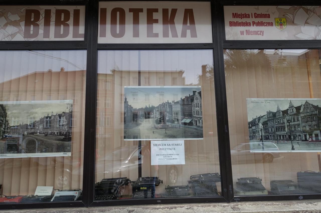 Niemcza na starej pocztówce – wystawa Miejskiej i Gminnej Biblioteki Publicznej
