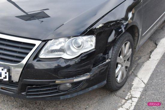 Zderzenie dwóch volkswagenów w Kietlicach
