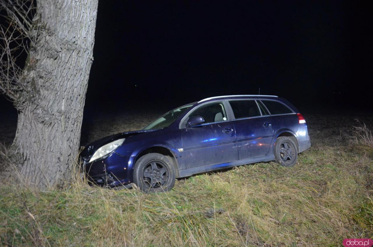 Vectra uderzyła w drzewo
