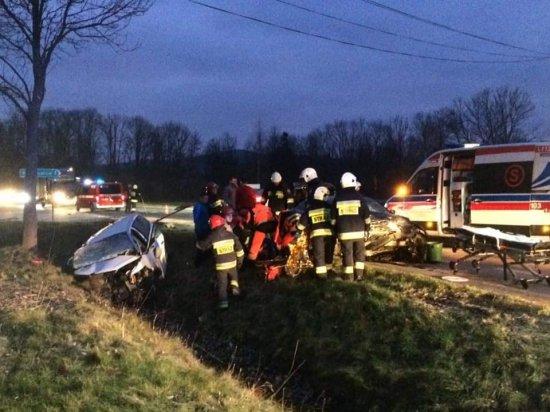 wypadek na dk33 w Żelaźnie