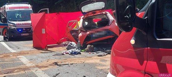 Wypadek na DK-8 w Szczytnej