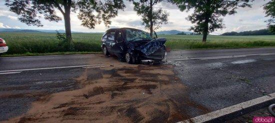Wypadek w Bożkowie [Foto]