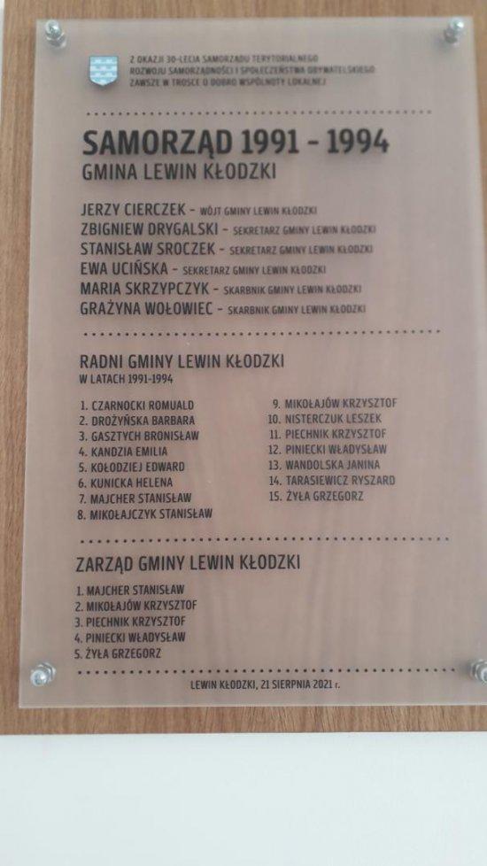 XXX–lecie Samorządności Gminy Lewin Kłodzki