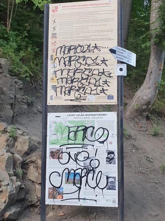 Akty wandalizmu w Polanicy-Zdroju