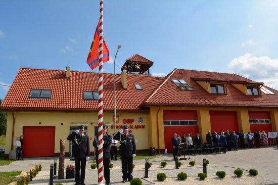 Uroczystość była także doskonałą okazją do oficjalnego otwarcia oraz poświęcenie nowego budynku remizy