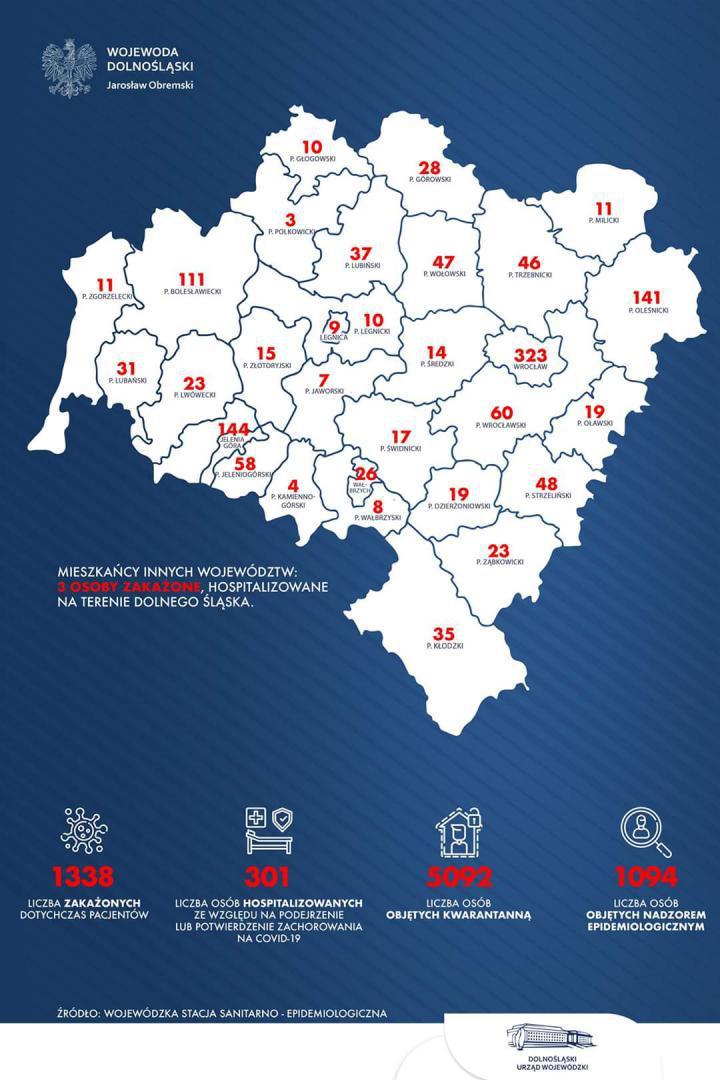 Szesnasty przypadek zakażenia koronawirusem w powiecie