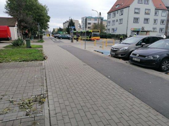 [FOTO] Potrącenie pieszej przez autobus MPK