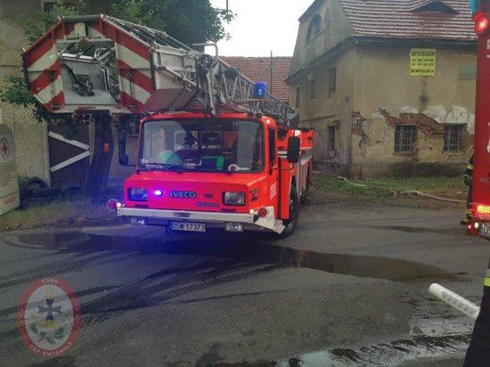 [FOTO] Pożar budynku w Kłaczynie
