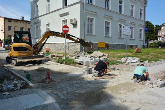 [FOTO] Dobiegają końca prace związane z przebudową ul. Kamiennej w Strzegomiu