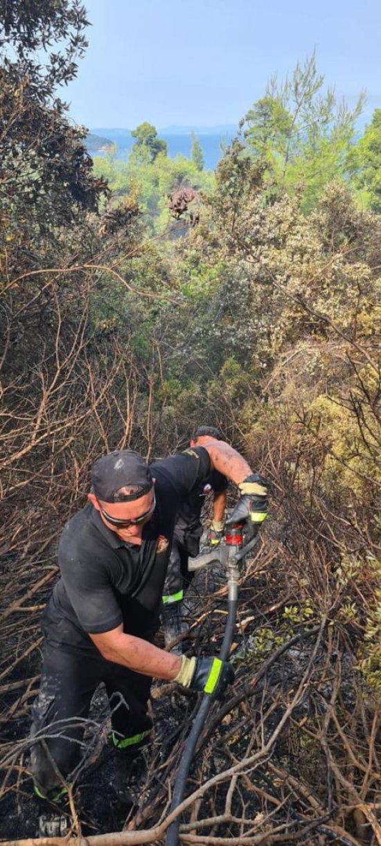 [FOTO] Świdniccy strażacy walczą z żywiołem w Grecji