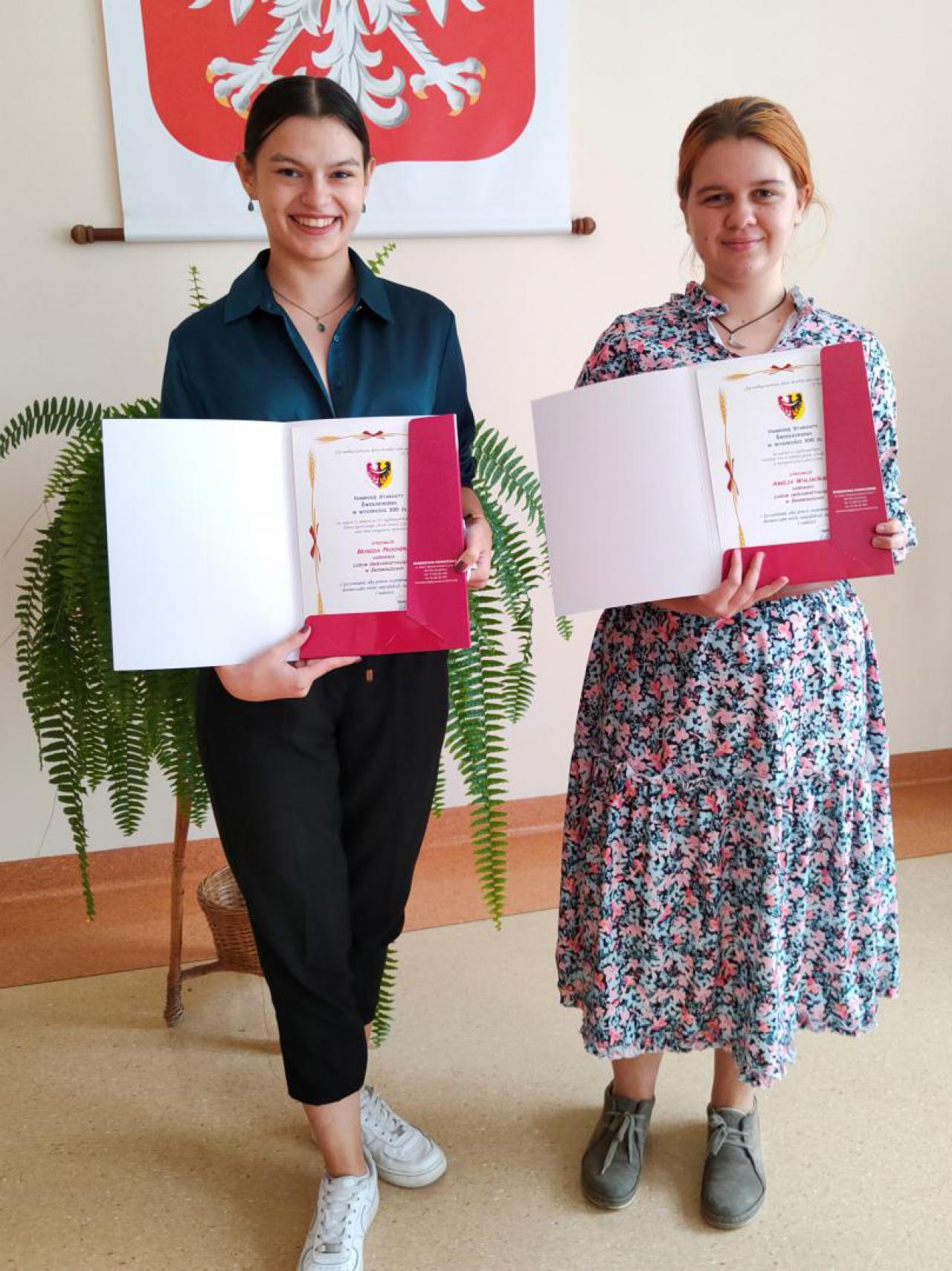 Nagrody Starosty Powiatu Świdnickiego dla utalentowanych uczniów Liceum Ogólnokształcącego w Świebodzicach