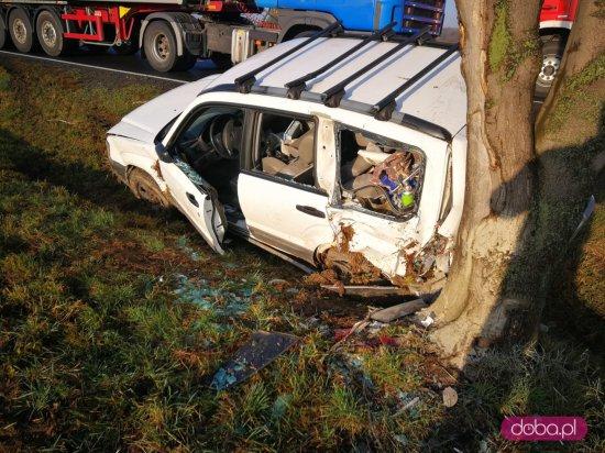 Wypadek na DK 35. Trzy osoby ranne