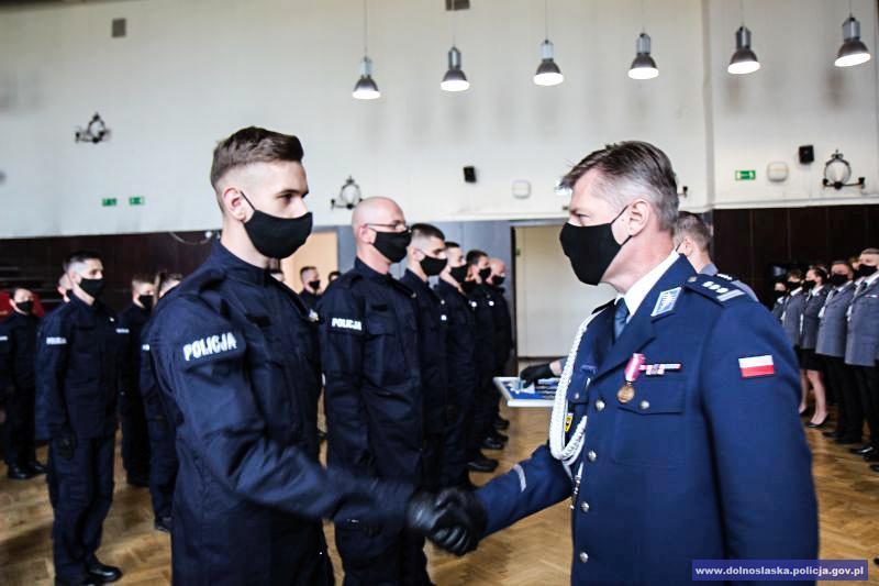 ślubowanie policjantów