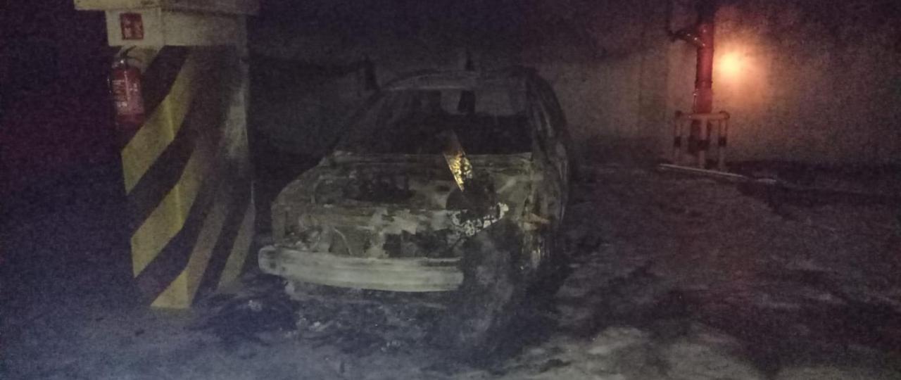 Pożar w garażu podziemnym przy ul. Miodowej