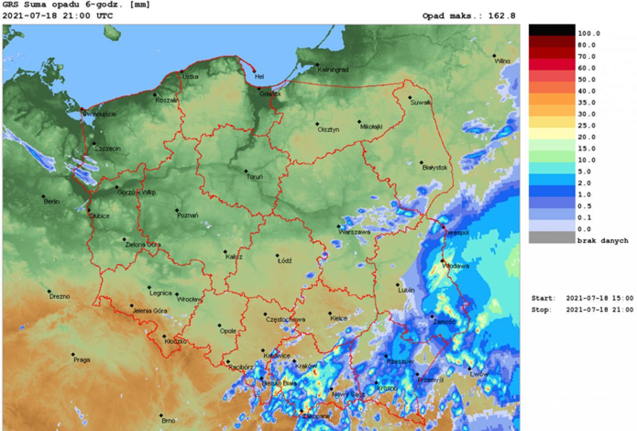 Podsumowanie warunków pogodowych minionej doby i prognoza na tydzień 19-25 lipca