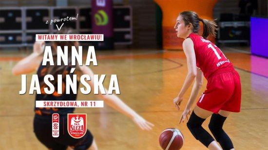 Anna Jasińska z nowym kontraktem w Ślęzie Wrocław