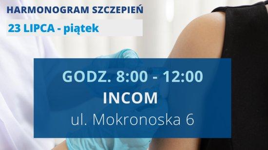 Harmonogram szczepień w SZCZEPCIObusie na weekend
