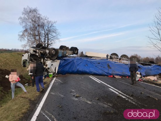 Wypadek ciężarówki Złoty Stok DK46