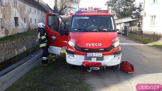 Zderzenie osobówki i ciężarówki w Rudnicy